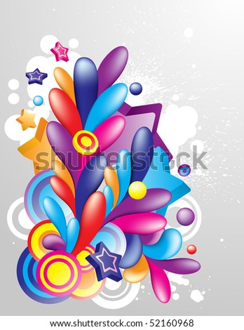 Colorful decorative element for your design - stock vector