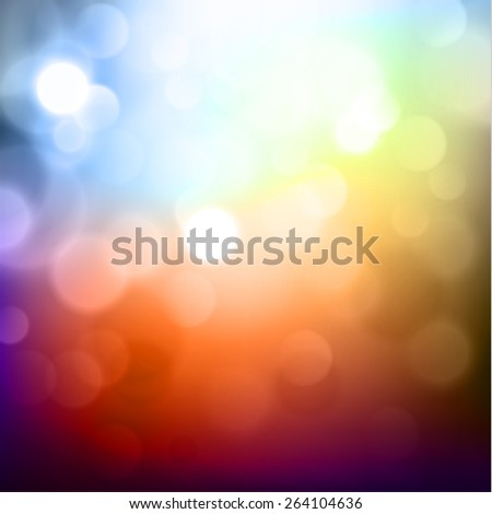 Colorful defocused lights background - eps10 - stock vector