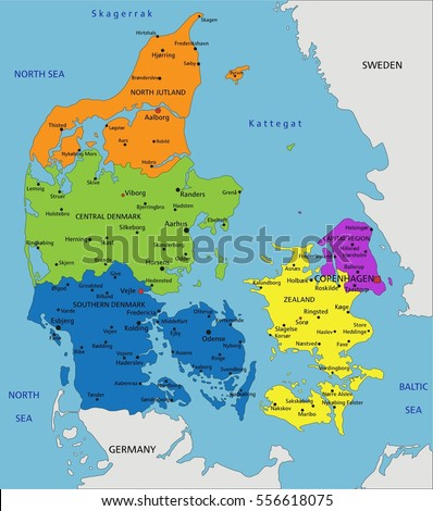 Colorful denmark political map clearly labeled stock vector colorful denmark political map clearly labeled stock vector 556618075 shutterstock gumiabroncs Choice Image