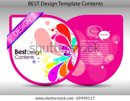 Colorful design background.editable vector illustration - stock vector