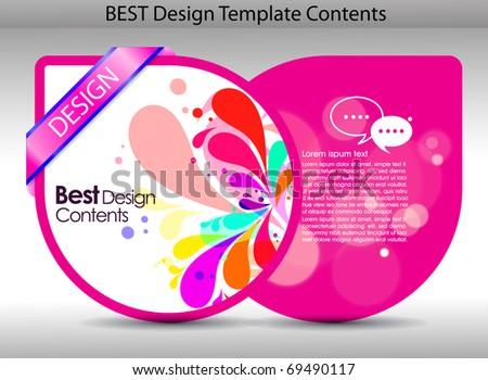 Colorful design background.editable vector illustration - stock vector