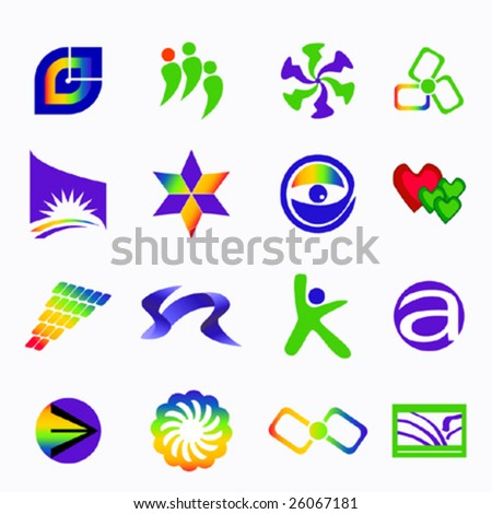 colorful design element - stock vector