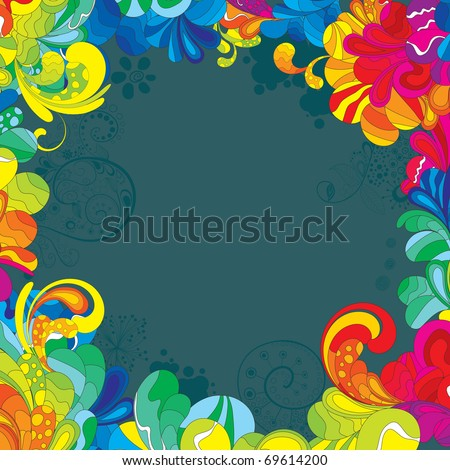 Colorful design for your message. All elements are separated and can be used to create your own composition. - stock vector