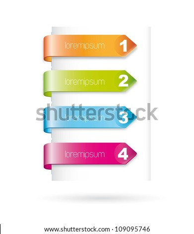 colorful design numbered over white background. vector illustration - stock vector