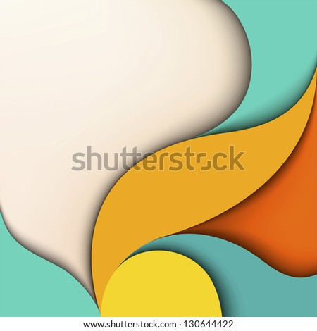 Colorful design. Wavy background with place for text - stock vector