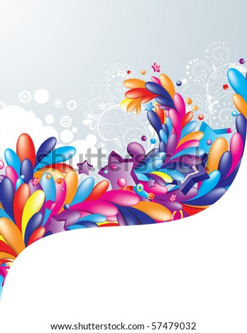 Colorful design with space for your message - stock vector