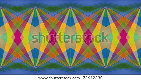 Colorful diamond abstract repeating background with dominant blue color - stock vector