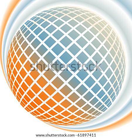 Colorful digital globe design. - stock vector