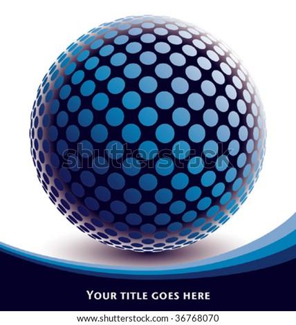 Colorful digital globe design vector. - stock vector