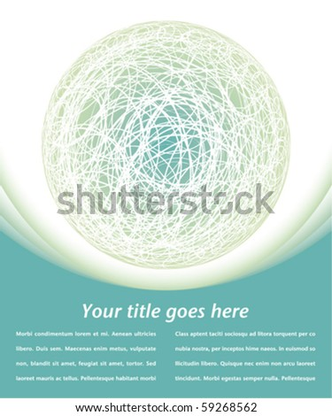 Colorful digital globe design with copy space. - stock vector