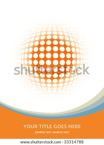 Colorful digital globe vector. - stock vector