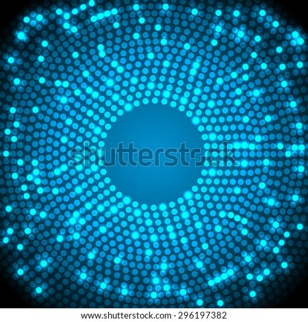 Colorful Dots Abstract Vector Background - stock vector