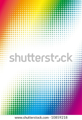 colorful dots background - stock vector