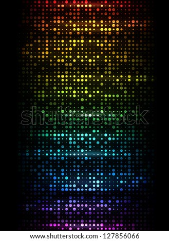 Colorful dots on black. EPS10 vector. - stock vector