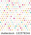 Colorful dotted seamless pattern - stock vector