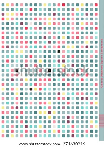 Colorful dotted (squares) seamless Pattern.  Abstract Design. Pale Colors Pink, Blue, Yellow, Purple - stock vector