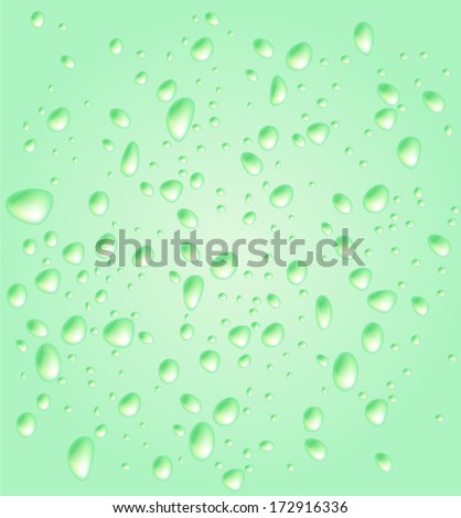 Colorful drops, vector background