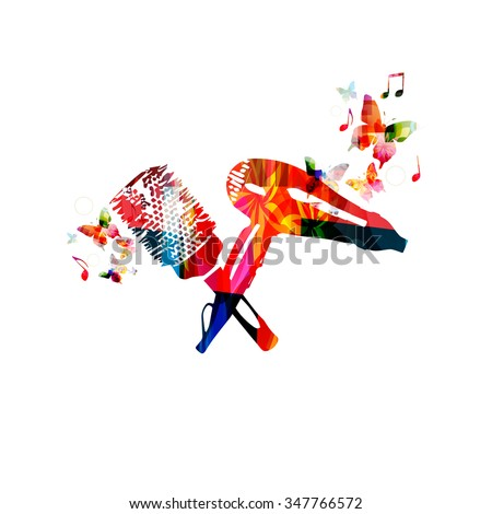 Colorful dryer and hairbrush design - stock vector