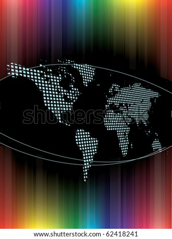 Colorful Earth map - stock vector