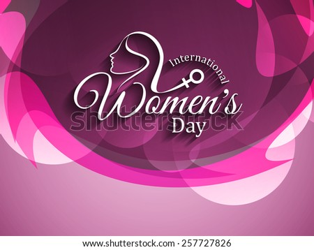Colorful elegant vector background design for International Women's day.  - stock vector