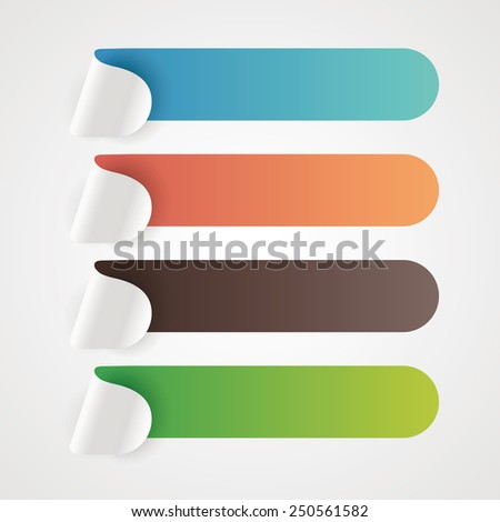 Colorful empty banner design