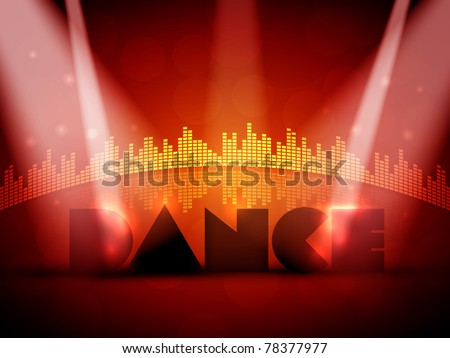 Colorful EPS10 Design for Dance - Vector Background - stock vector