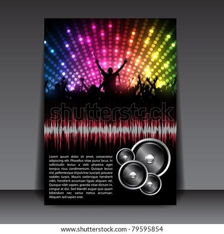 Colorful EPS10 Flyer Design – Sensation Party - Vector Background - stock vector