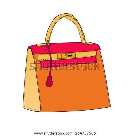 Colorful fashion bag, vector illustration - stock vector