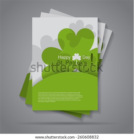 Colorful flat Happy St. Patrick's Day flyer / brochure design,eps10 Vector. - stock vector