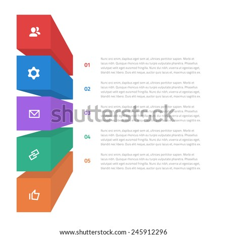 Colorful Flat Step by Step Infographics / EPS10 Vector Illustration / - stock vector