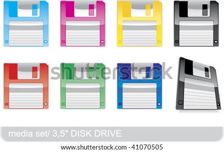 colorful floppy disks