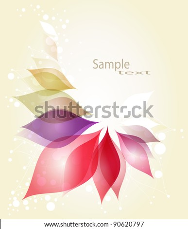 Colorful floral abstract background - stock vector