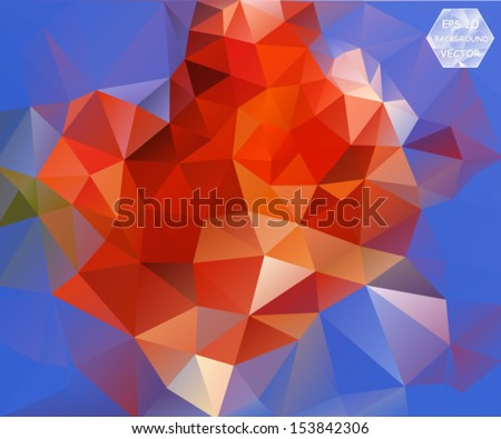colorful floral abstract polygonal background. Vector, EPS 10 - stock vector