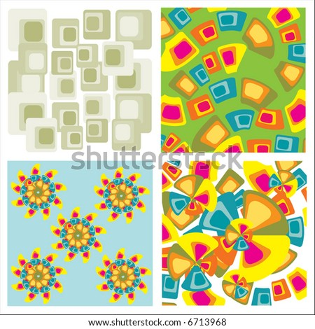 colorful floral backgrounds - stock vector
