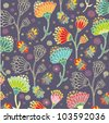 Colorful floral  pattern - stock vector