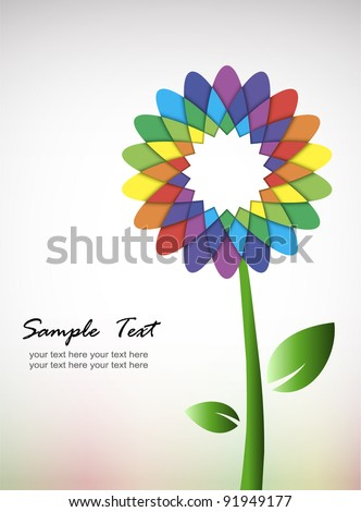 colorful flower    - stock vector