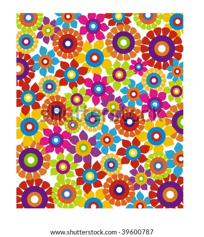 colorful flower background - stock vector