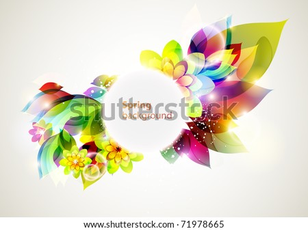 Colorful flower banner - stock vector