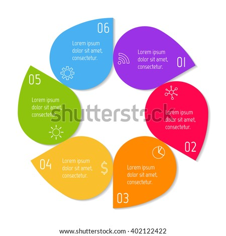 Colorful Flower Infographic Banner Template Circular Stock Vector ...
