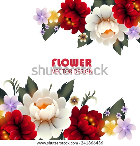 Colorful flowers in Zhostovo style. Vector illustration - stock vector