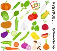 Colorful Food vector Icons :  Fruit and vegetables - stock vector