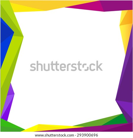 Colorful frame blank background Design Concept - stock vector