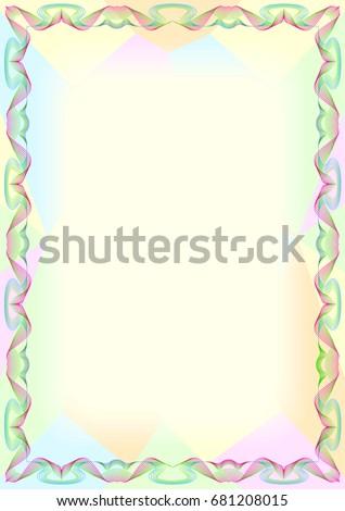 colorful frame border design. Modren Frame Colorful Frame Border Design Combines With Wave Line And Polygonal  Background For Frame Border T