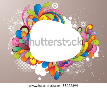 Colorful frame design for your message - stock vector