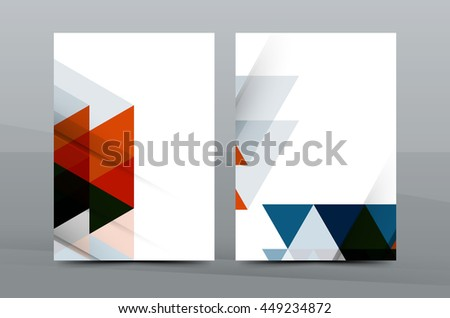 Abstract flyer design background  Brochure template  Can be used for  magazine cover  business Pinterest
