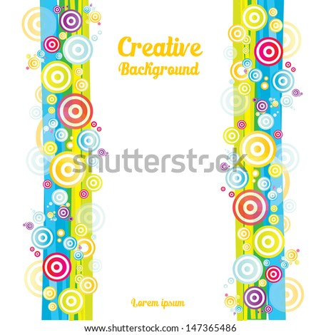 Colorful fun abstract background. Can be used for kids background / happy birthday postcard / fun posters / cover design and advertising. Vector illustration. - stock vector