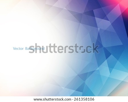 Colorful futuristic vector background design with polygonal shapes. - stock vector