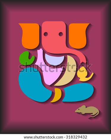 Colorful Ganesha Design (EPS10 Vector) - stock vector