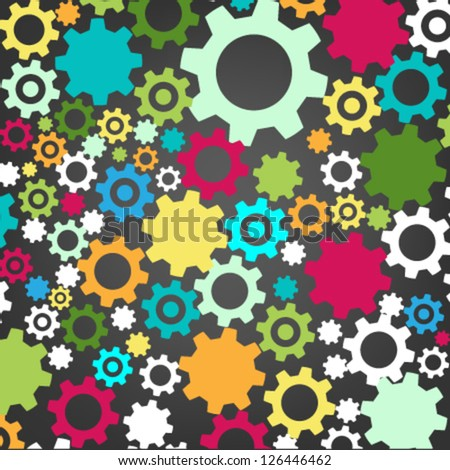 colorful gear - stock vector