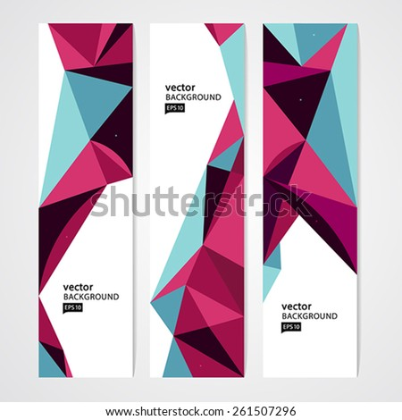 Colorful geometric abstract background. - stock vector